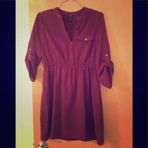 Rue 21 dress. Maroon. Size XL. Fits like L